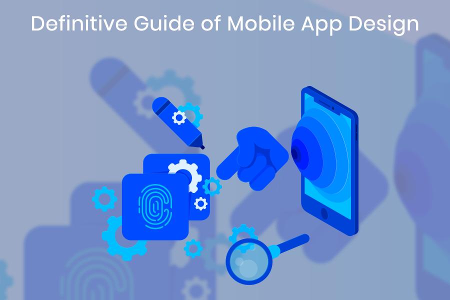 Mobile app design banner